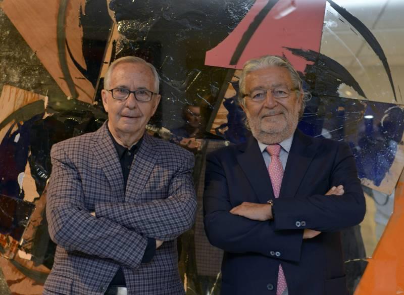 Manolo Valdés y Rafael Alcón