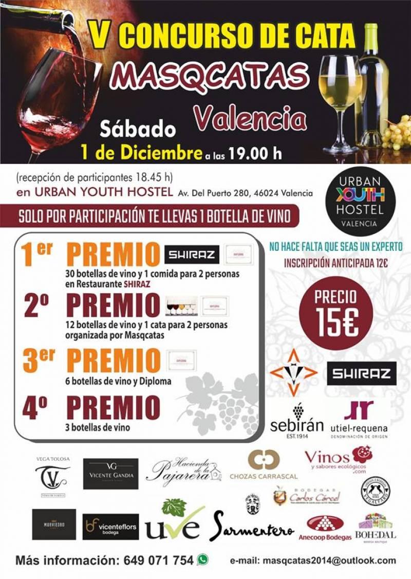 V edición concurso de cata Masqcatas Valencia