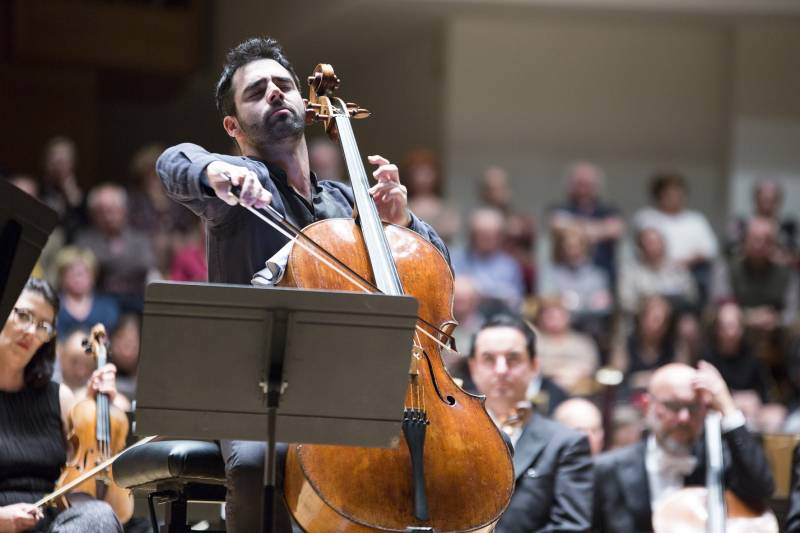 El violoncel·lista Pablo Ferrández. Imagen: Eva Ripoll