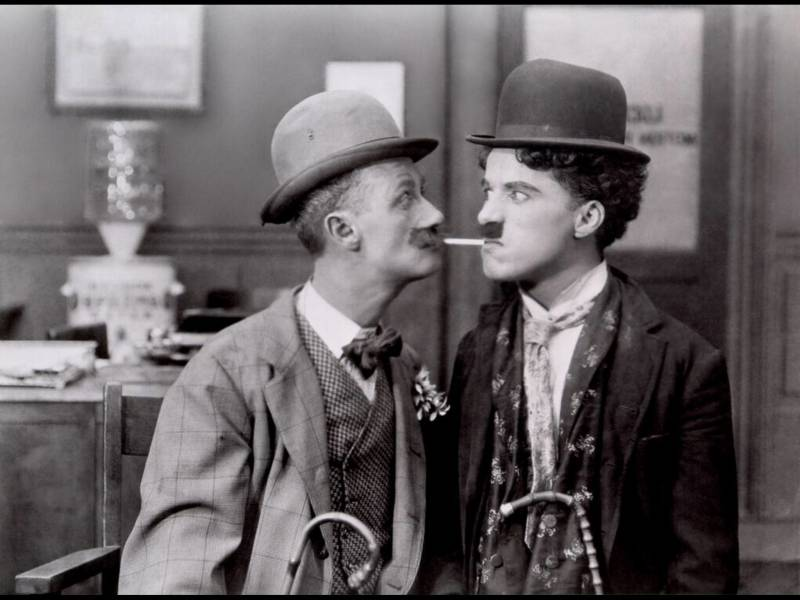 Escena con Charles Chaplin. EPDA.