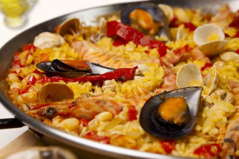 La paella, uno de sus platos fuertes
