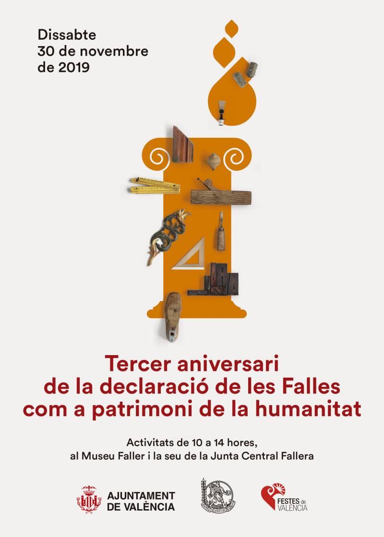Cartel 3r aniversario Fallas Patrimonio