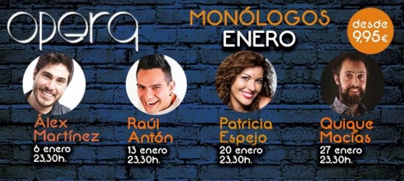 Monólogos enero Opera Casino Cirsa Valencia