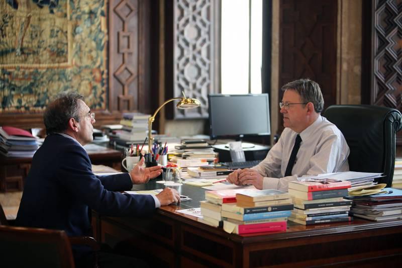 Ximo Puig y Enrique Vidal, reunión Àgora