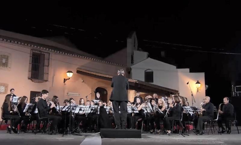 La Banda Música Jove de Benimaclet durante un concierto