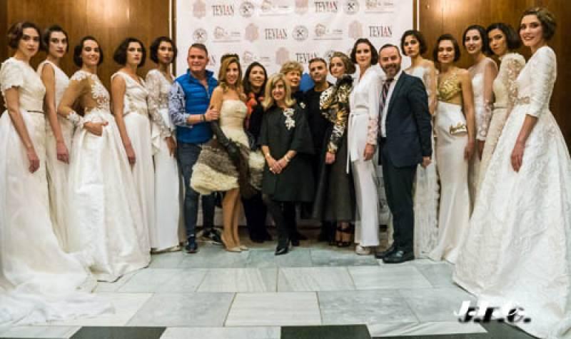 Fran Tochena con Diseñadores y Modelos