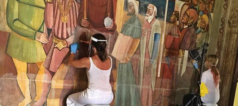Imagen de archivo restauración de pinturas./ EPDA