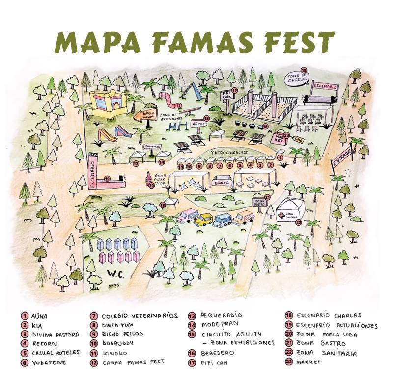 Mapa Famas Fest, viveros