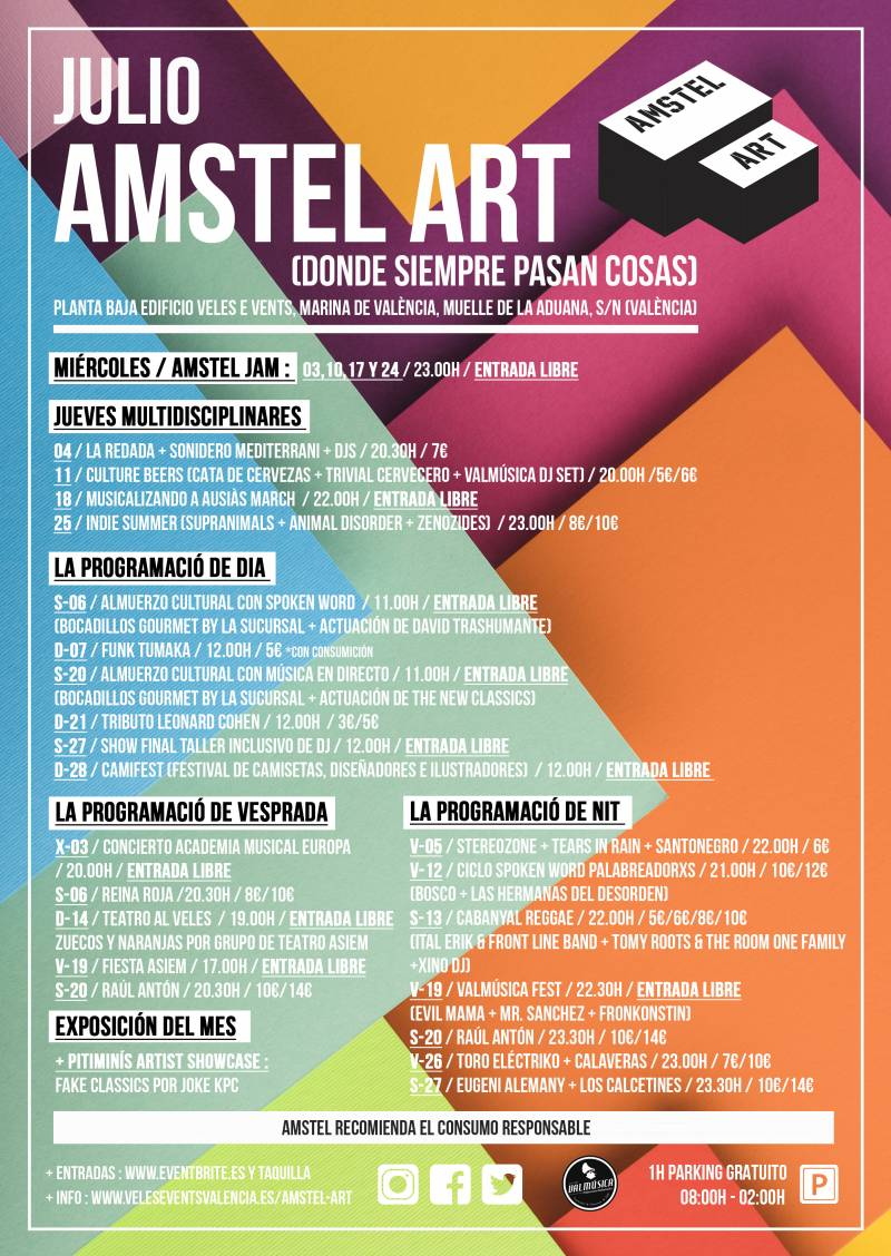 CARTEL JULIO 19 AMSTEL ART