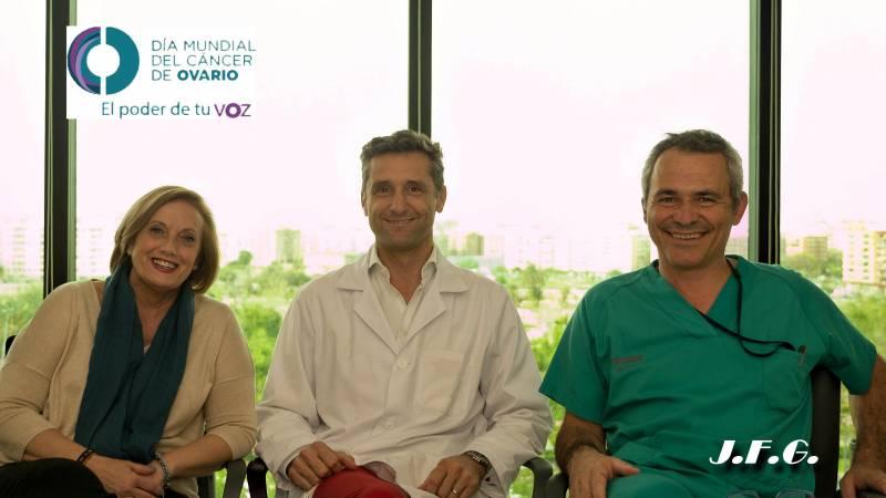 Paloma Luis, Dr. Lucas Minig y Dr. Santiago Domingo
