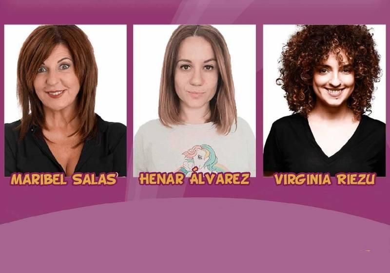 Henar Álvarez, Virginia Riezu, Maribel Salas