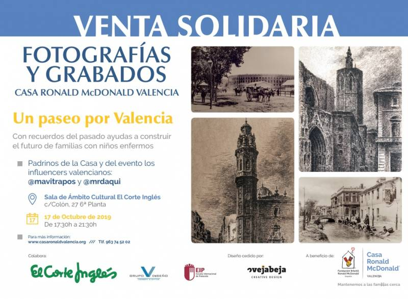 Juan Carlos, Tomás, Ana, Carla, Manolo y Pau de El Corte Inglés, con los dorsales de Valencia Contra el Cáncer