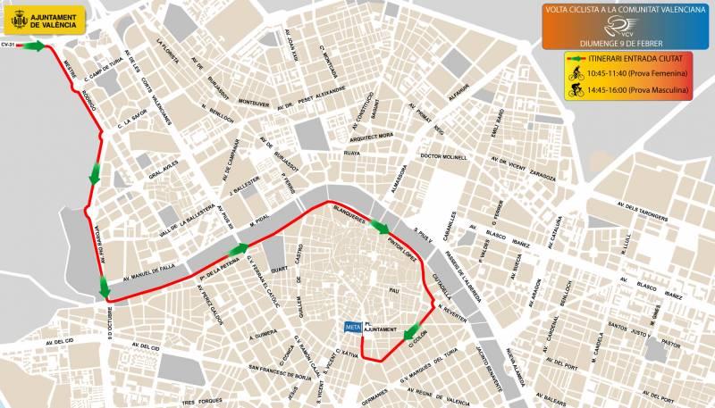 Recorregut Etapa final Volta Ciclista a la Comunitat Valenciana 2020