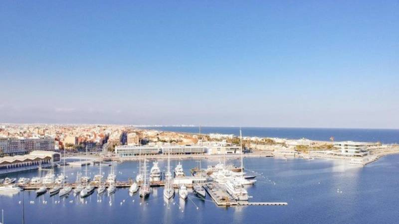 Foto aerea La Marina de València