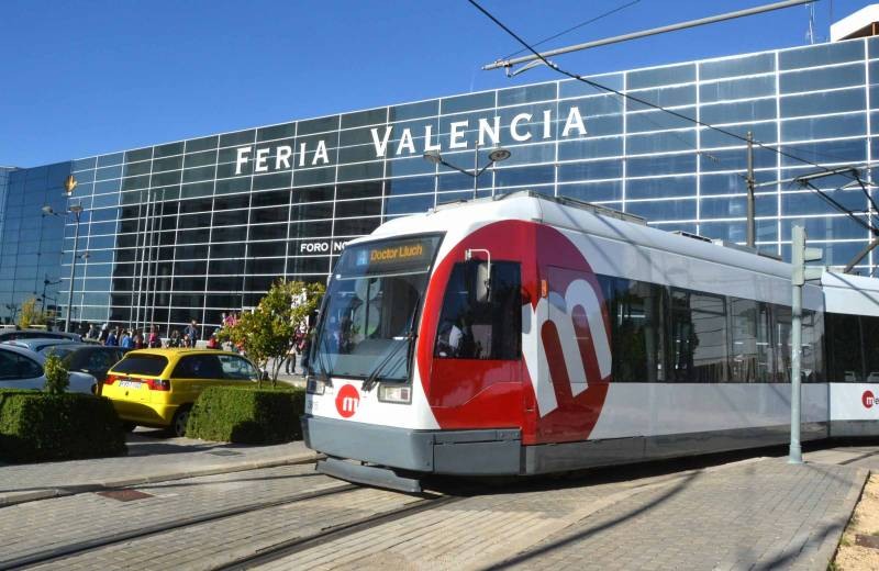 Tranvía en Feria Valencia. EPDA