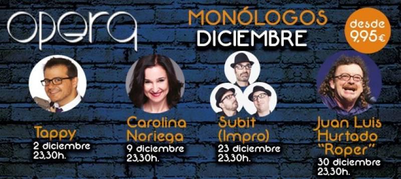 Monologuistas Opera diciembre Casino Cirsa Valencia