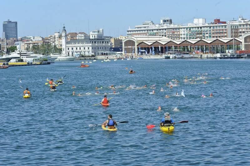 Travesía a nado, Puerto de Valencia