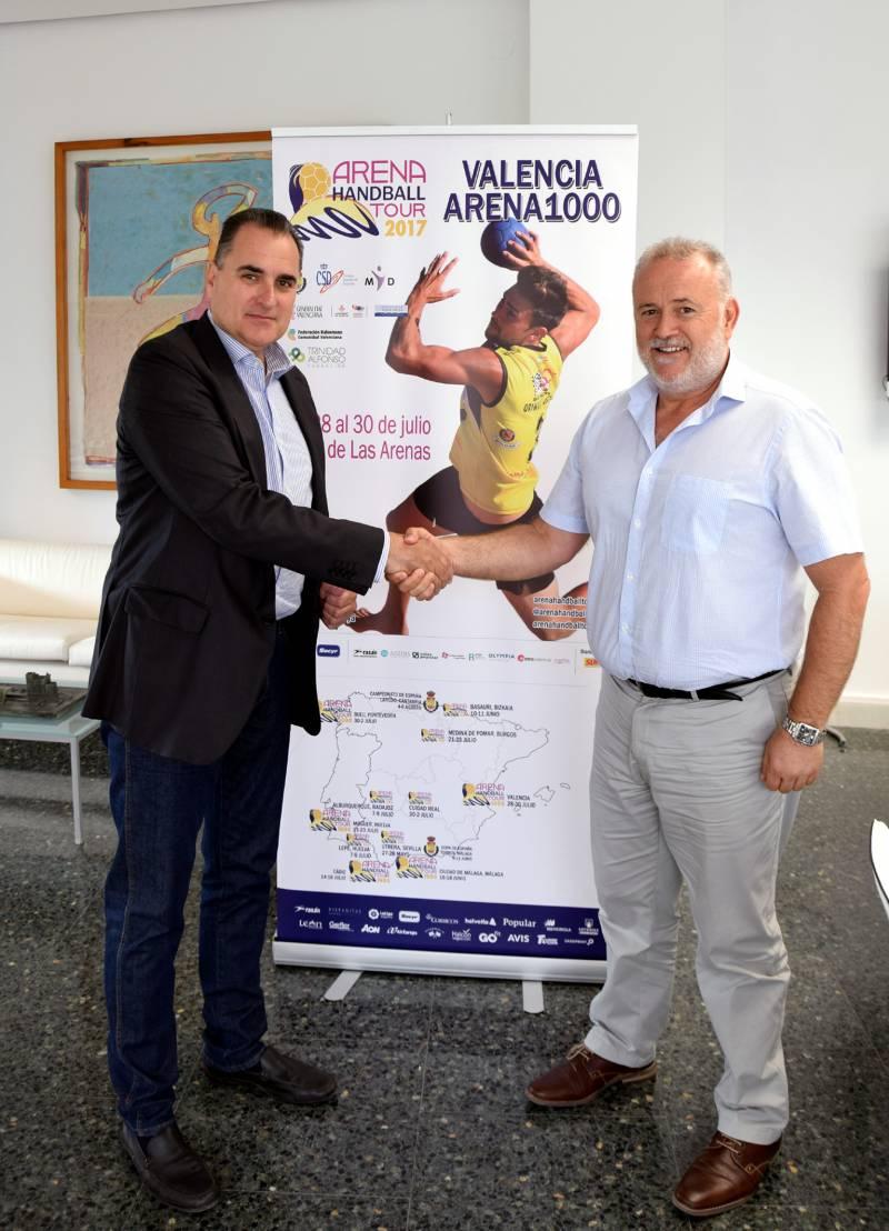 Firma FGV y Federación Balonmano