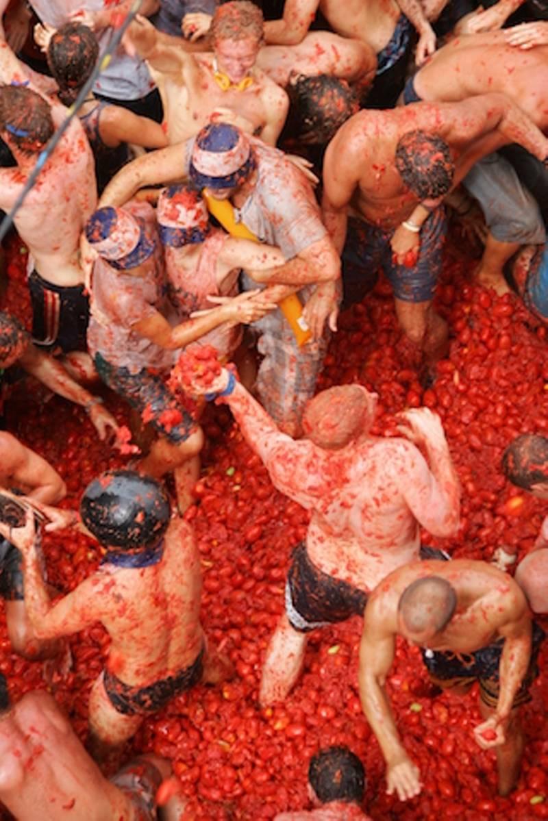 Fiesta La Tomatina de Buñol.