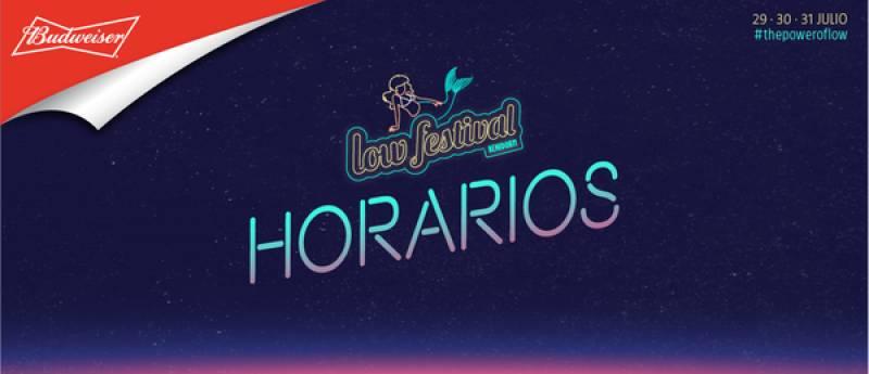 Horarios de las actuaciones del Low Festival