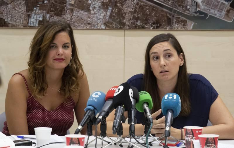 Sandra Gómez  y Elisa Valía