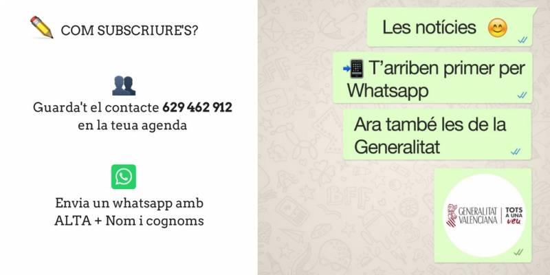 Whatsapp de la Generalitat