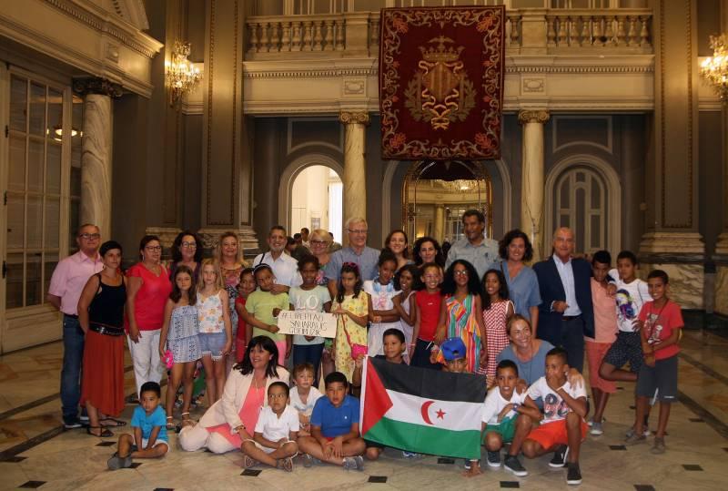 Recepción niños/as saharauis