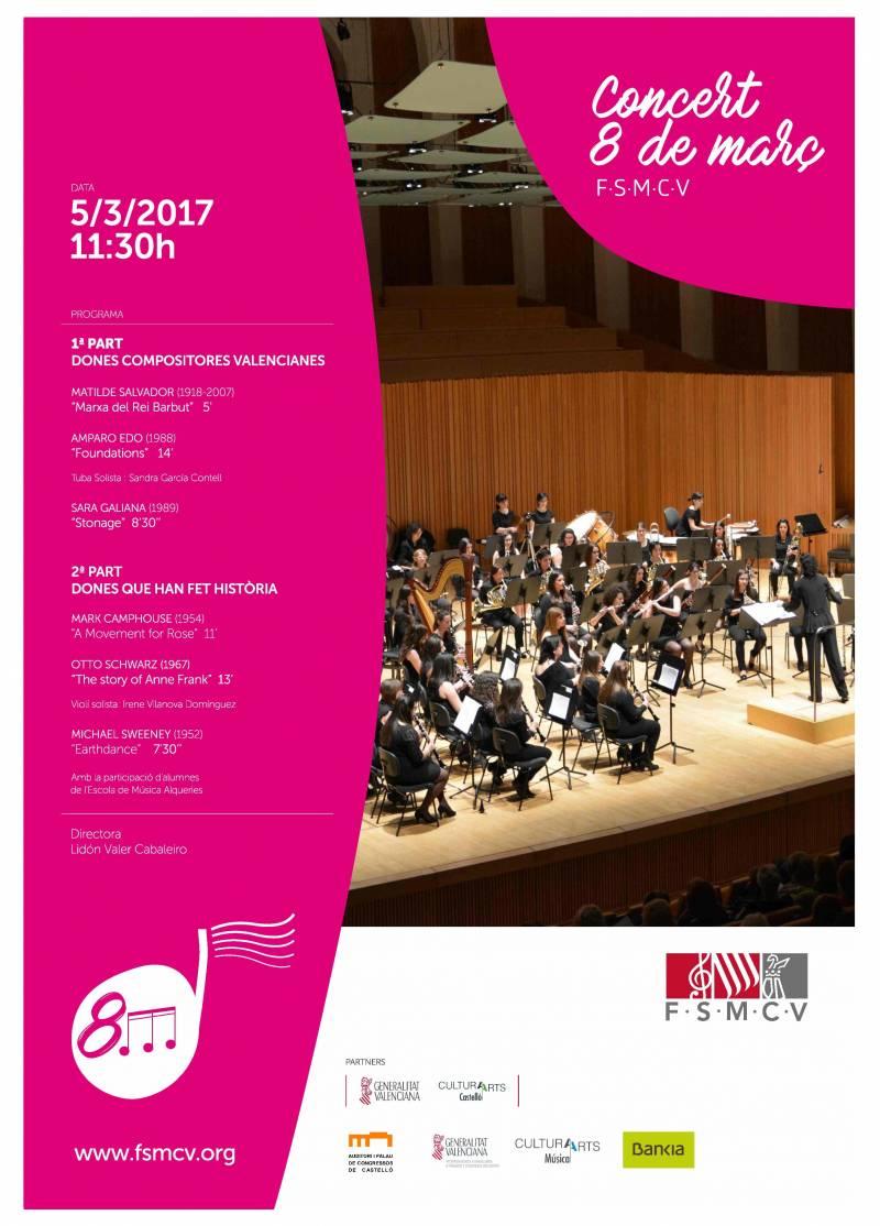 Cartel del concierto del Día de la Mujer