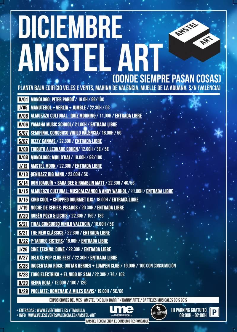CARTEL DICIEMBRE 19 AMSTEL ART