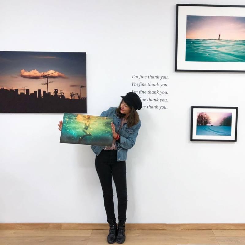 Sarah Blard en la sala Momentolux, Ruzafa