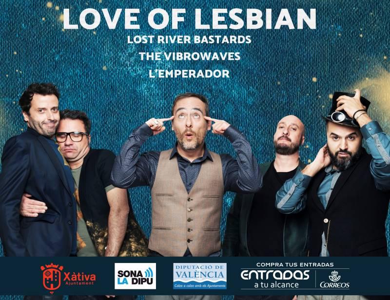Cartel del concierto del próximo 19 de agosto en Xàtiva.