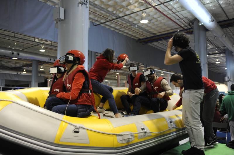 El simulador de rafting vuelve a convertirse en el gran atractivo de la propuesta de la Diputació