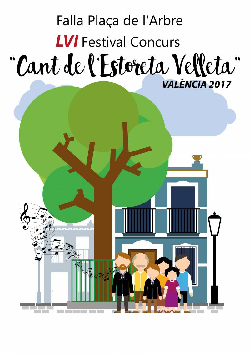 LVI Concurs del Cant de l'Estoreta Velleta en la Falla Plaça de l'Arbre