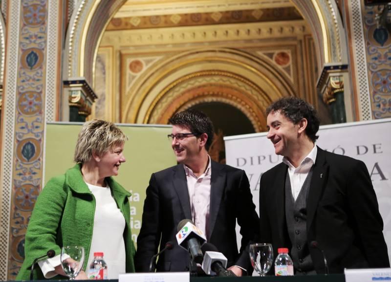 Pilar Moncho, Jorge Rodríguez y Francesc Colomer