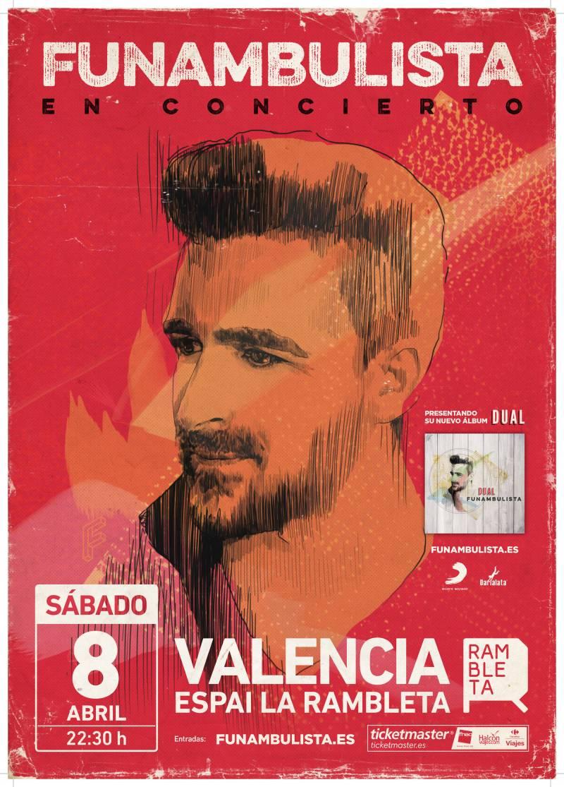 Resultado de imagen de cartel concierto funambulista valencia
