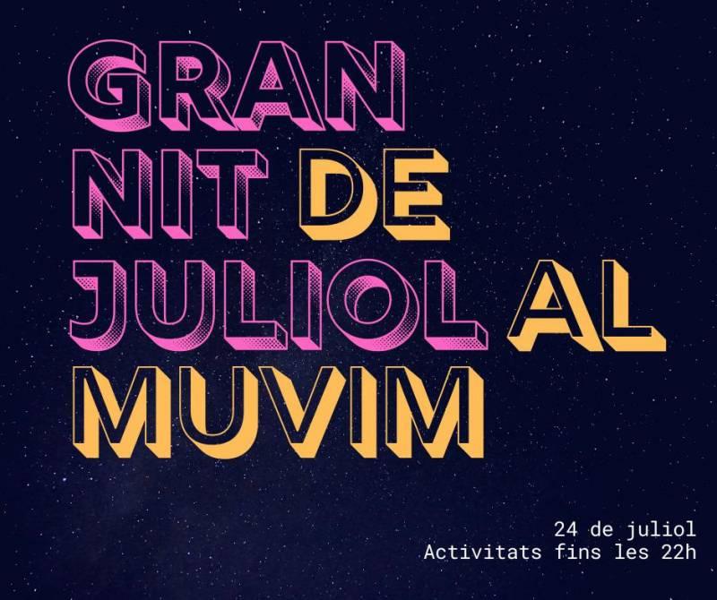 Cartell de la Gran Nit de Juliol del MuVIM. EPDA