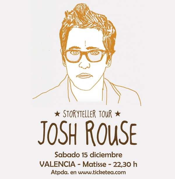 Cartel de la gira de Josh Rouse (Sala Matisse)