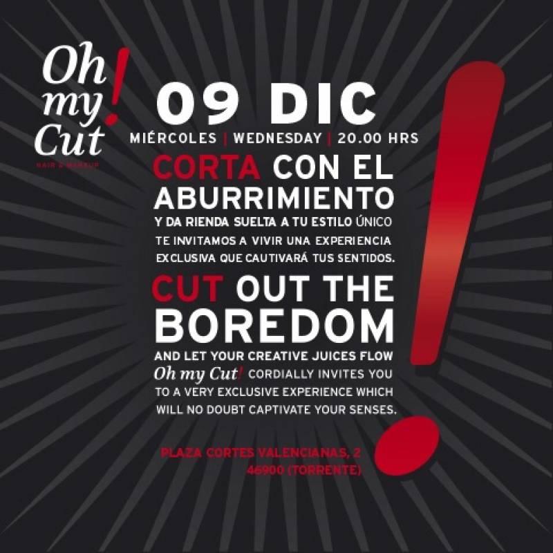 Cartel de inauguración del centro de belleza oh my cut!. //VIU VALENCIA