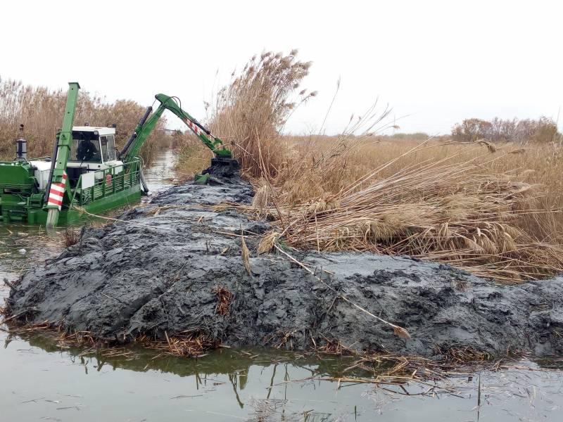 El Ayuntamiento retoma el dragado y desbroce de la Albufera en 6 kilómetros más de canales y acequias