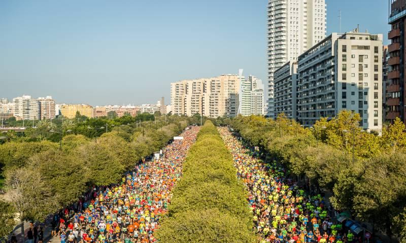El maratón en Valencia