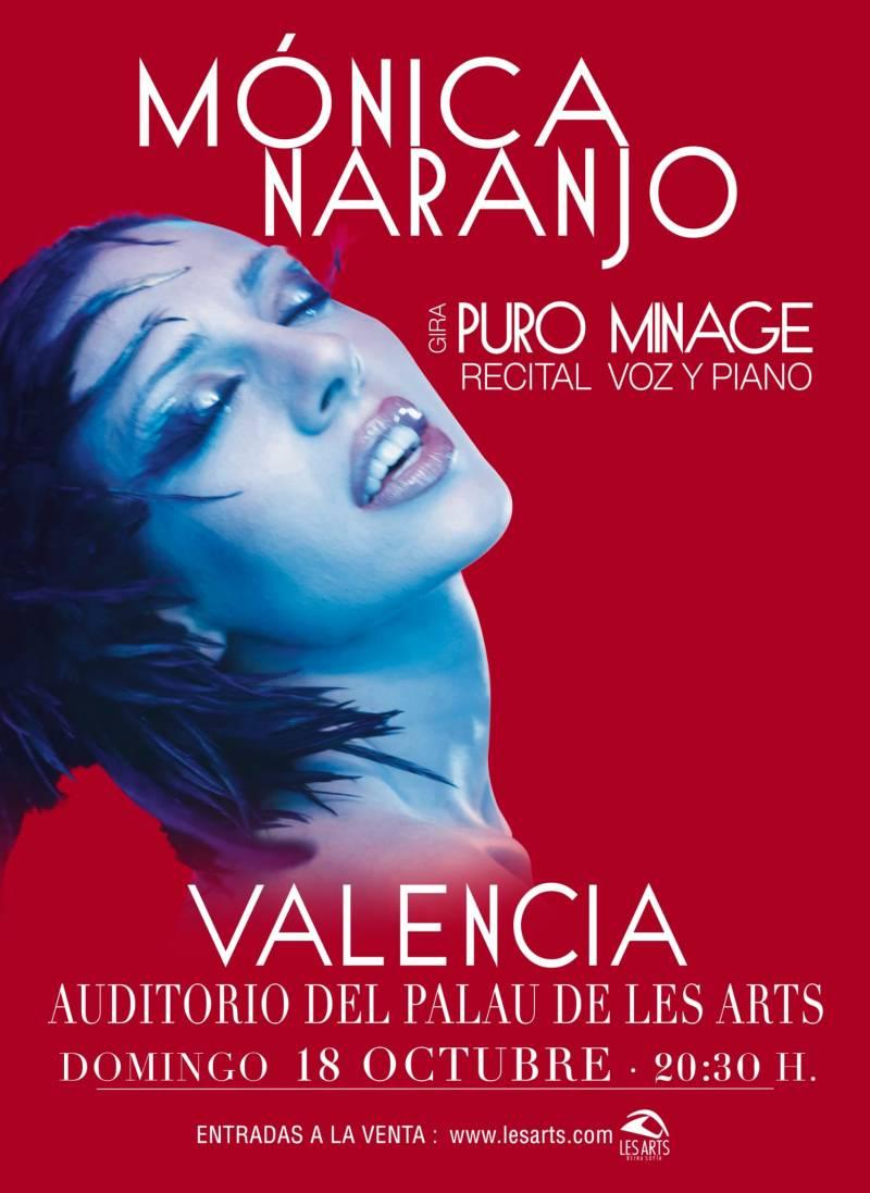 Mónica Naranjo, cartel en València. EPDA