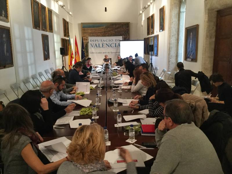 PIlar Moncho en la reunión celebrada en la Diputación
