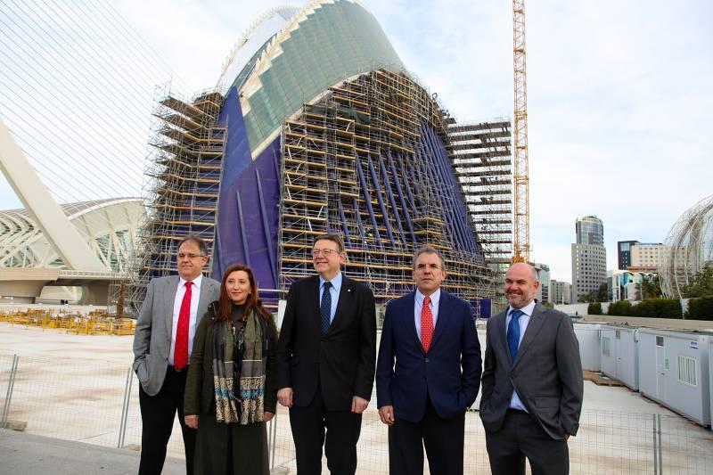 Visita de las obras del edificio del President Puig
