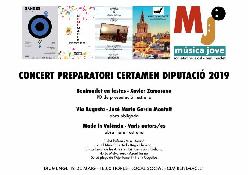 Cartel concierto precertamen mayo19