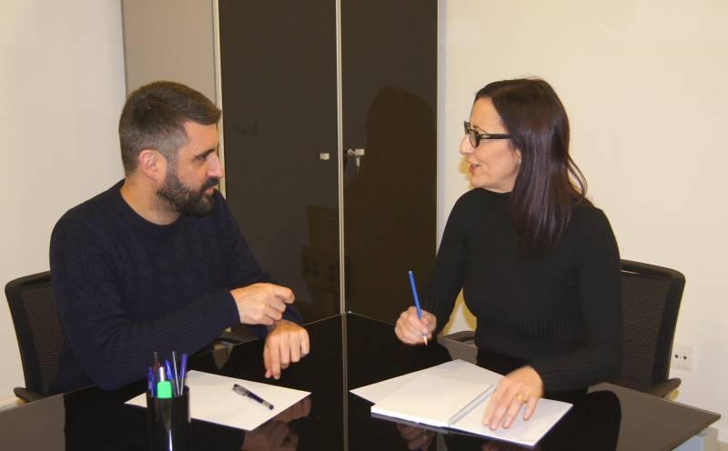 Reunión Pere Fuset y Maria Josep Amigó