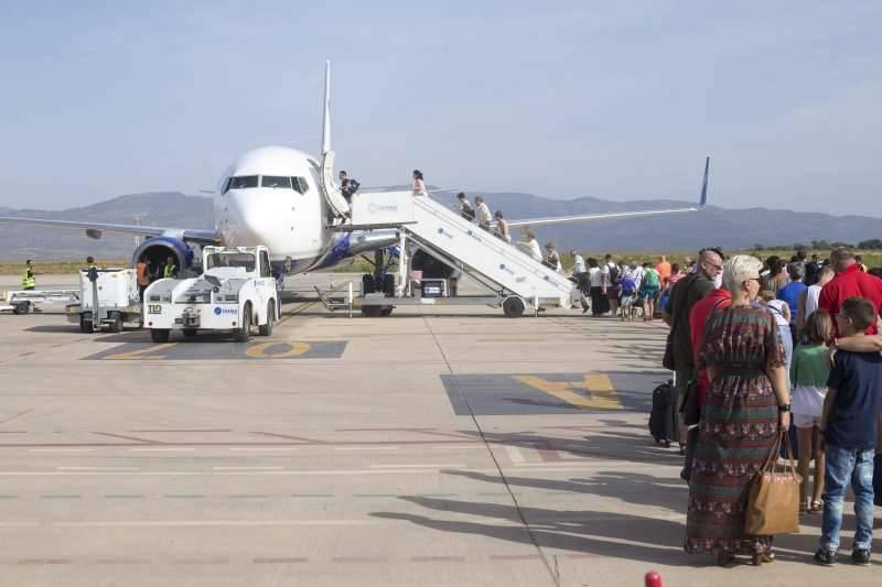 Un vuelo en el aeropuerto de Castellón. EPDA