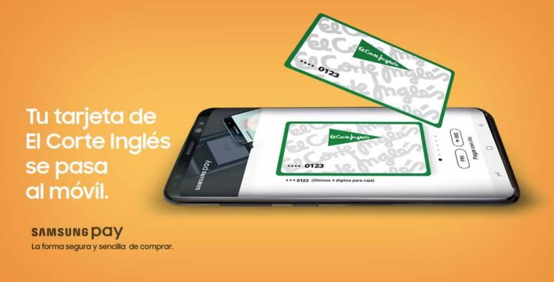 Samsung Pay, El Corte Inglés