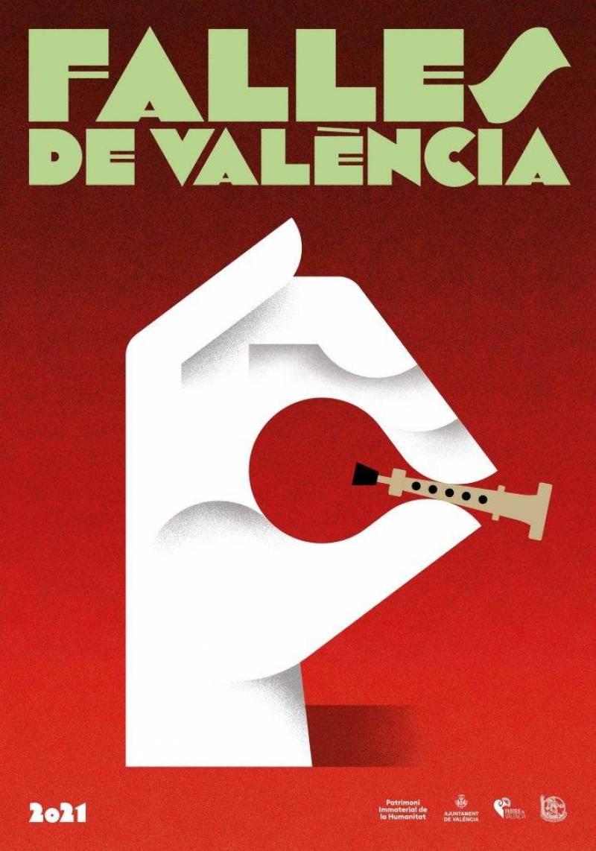Cartell promocional de les Falles. EPDA.