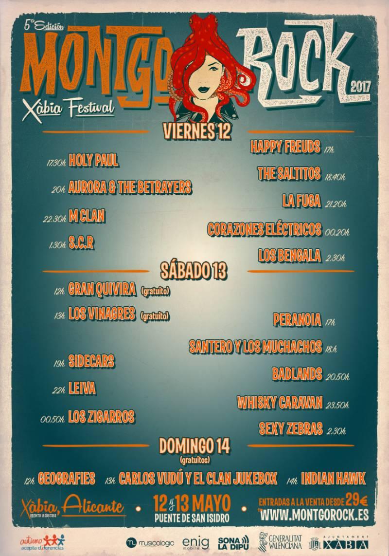 Horarios del festival