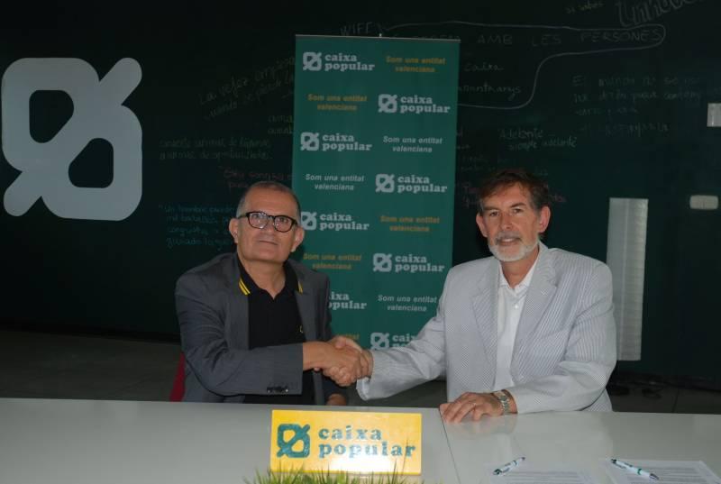 Firma convenio IVAM y Caixa Popular